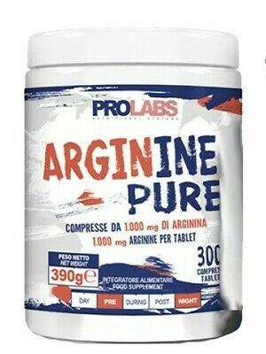 PROLABS ARGININE PURE 300 cpr Integratore di L-Arginina Pura in Compresse 1000mg