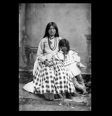 Geronimo Wife PHOTO with Son Apache Native American Indian Chief Family Portrait