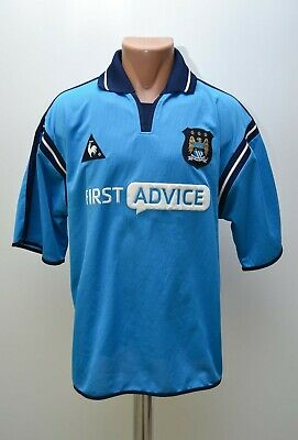 Manchester City 2000/2002 Home Football Shirt Jersey Le Coq Sportif Size L