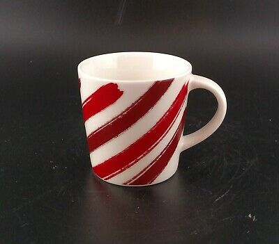 Starbucks Coffee Demi Mug Espresso Cup Diagonal Candy Cane Stripes 2014 3oz Mini