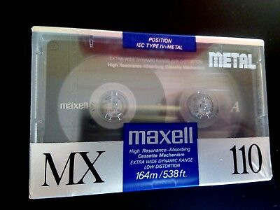 CASSETTE TAPE BLANK SEALED - 1 x (one)  MAXELL METAL MX 110  (1990-91] (type IV)