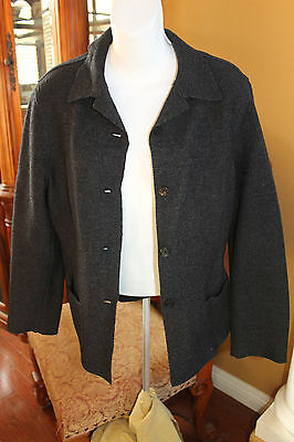 4bb41a9a86 Women s Lord   Taylor wool jacket CHARCOLE GRAY size 10P PETITESLONG SLEEVE  TOP