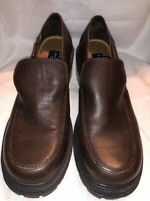 867cb6acbee Dockers Brown Women s Size  8.5 Block Heel Leather Slip-On Loafer Dress  Shoes