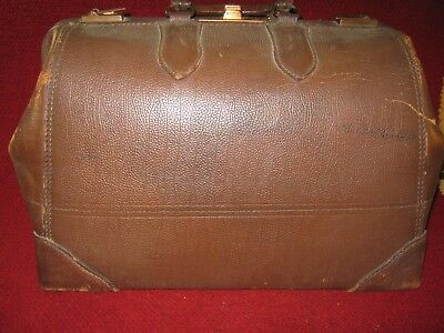 Vintage Leather Travel Bag / Doctor's Bag Henry Likly Rochester, NY