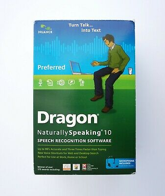 Dragon Naturally Speaking 10 Speech Recognition Software by Nuance