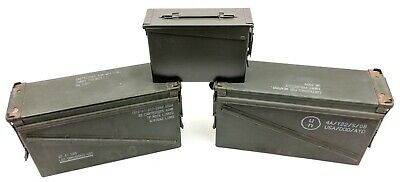 Lot of 3: Army Military Ammo Cans, Two 40mm and One 30 cal Cans (#4878)