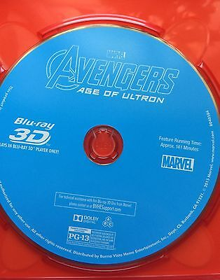 Avengers: Age of Ultron 3D Disc ONLY in sleeve. Nothing else included. Mint.