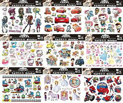 CHILDREN'S TATTOOS Birthday Party Gift Bag Fillers Kids Girls Boys Tattoo Gifts