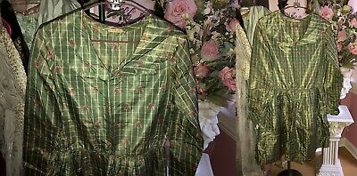 ANTIQUE VINTAGE Moire  DRESS Salvage Repurpose Doll Fabric 1930's??