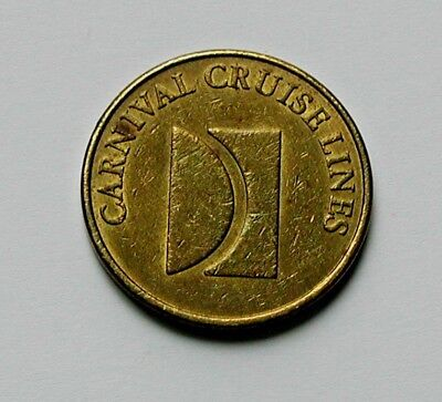 Vintage Carnival Cruise Lines (Caribbean) Ship Casino Brass Token - 25 Cents -
