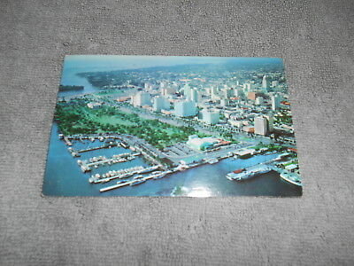 ( L ) Post Card - Aerial View Of The City Of Miami - 1957