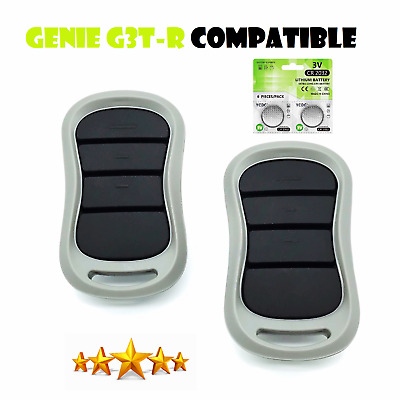 G1T-BX Compatible Genie 3 Button Mini Keychain Intellicode Remote 38501R 2 Pak
