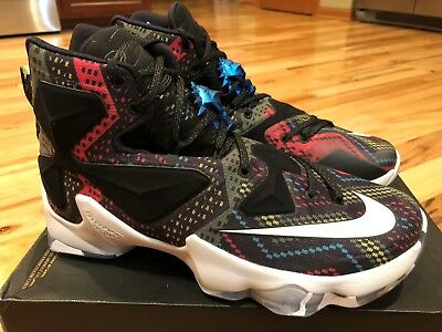 info for 9396c 9a8b8 Nike Lebron Xiii Bhm Multicolor White Black 828377 910 Men s Size 9 Noboxtop