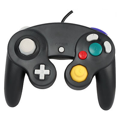 Wired Shock Video Game Controller Pad for Nintendo GameCube GC&Wii Black Gift TC