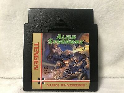 Nintendo NES Tengen Alien Syndrome Black Cartridge Only Tested Fast Shipping!!