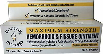 Doctor Butler's Hemorrhoid and Fissure Ointment FDA Approved Brand New 11/19 Exp