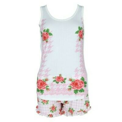 New Sag Harbor Women's Plus Size Tank and Short Floral Pajama Set
