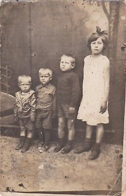 1920s Cute Children Handsome Young Boys Girl Fashion Old Russian