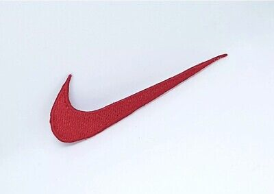 Nike Sports Brand Logo Iron On Sew On Embroidered Patch # RED