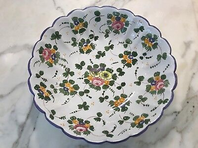 Cottura Collectors Item Handmade Signature Floral Pattern Painted Bowl Small