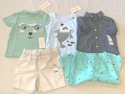 Baby Boys Size 12 M Months Carter's First Impression Lot Shirt Shorts Outfit Nwt