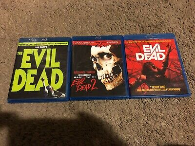 The Evil Dead 1 & 2 & Newest One, Blu-Ray, Evil Dead Limited Edition, 3 Movies