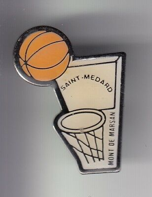 Rare Pins Pin's ..  Sport Basket Ball Club Saint Medard Mont De Marsan 40 ~Dw