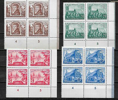 Germany 1953, Frankfurt on Oder 700th Anniv, Blocks Sc #151-54,VF MNH** (RN-7)