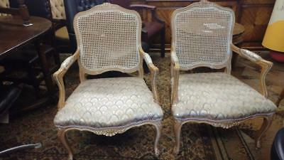 TWO LOUIS XV1 fauteuil chairs ARMCHAIRS