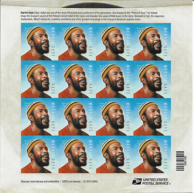 2019 MARVIN GAYE MUSIC LEGEND SHEET OF FOREVER 55c STAMP # 5371,XF MNH**