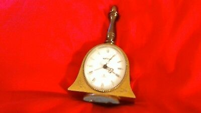 A Very Rare And Highly Unusual Swiza 8 Brass Alarm Clock In Shape Of A Hand Bell