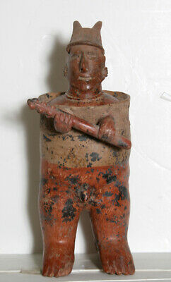 Pre-Columbian, West Mexico, Nayarit Standing Warrior (Protoclassic), Terracotta