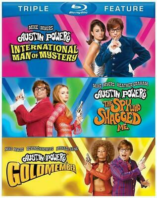 Austin Powers Collection International Man Spy Shaggeed Gold(Blu-Ray 3-Disc) New