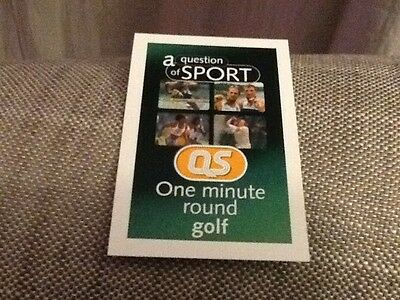Ryder Cup 1985 / Golf / A Question of Sport game card / 1999