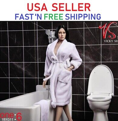 "VSTOYS 1/6 Bath Robe Towel Set For 12"" PHICEN Hot Toys Kumik Female Figure Doll"