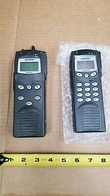 Harris P7200 Handheld Radio & New Replacement Face with Dial pad