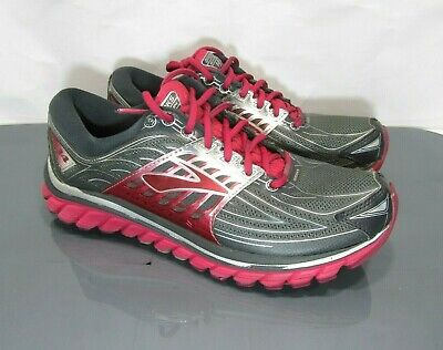1638a761f2ff0 BROOKS GLYCERIN 14 Women s Size 9 B Gray Red Athletic Sneakers ...