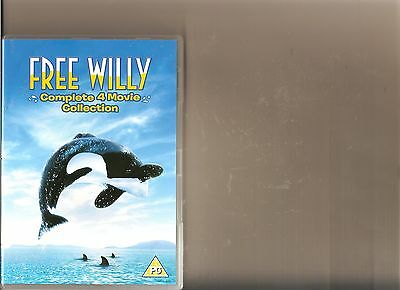 The Free Willy Collection Dvd 4 Films Kids / Family Whale