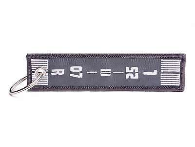 Runway Airport Key Ring - Grey Runway Airfield Airport