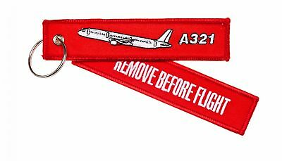 Remove before Flight Pendant A321 - Key Ring Flying Pilot