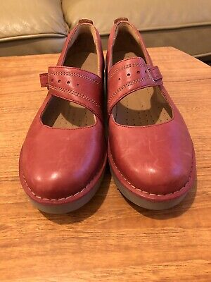 6a25f922718 Clarks Artisan Unstructured Women s Red Genuine Leather Shoes Size UK 7 New