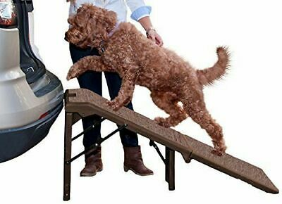Pet Gear PG9956XLCR Free-Standing Extra Wide Carpeted Pet Ramp  Chocolate