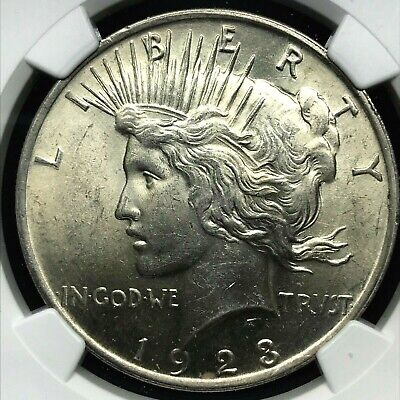 1923 Peace Silver Dollar Coin- Graded By NGC MS 62 .