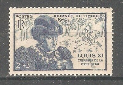 France 1945,History of France King Louis XI ,House of Valois, Sc # B196,VF MNH**