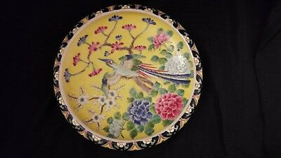 Beautiful Nippon Antique Japanese Porcelain Large Colorful Signed Bowl