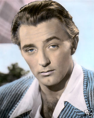 """ROBERT MITCHUM HOLLYWOOD ACTOR & MOVIE STAR 8x10"""" HAND COLOR TINTED PHOTOGRAPH"""