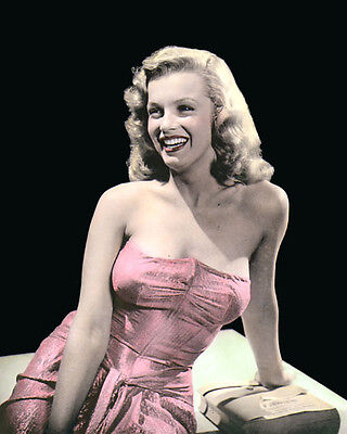 """MARILYN MONROE 1947 HOLLYWOOD LEGEND & MOVIE STAR 8x10"""" HAND COLOR TINTED PHOTO"""