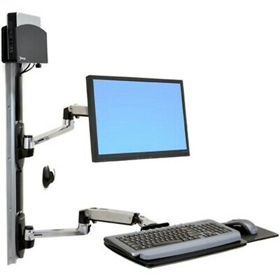 Ergotron 45-253-026 Sit Stand Telescoping Combo Arm Monitor Keyboard Wall Mount