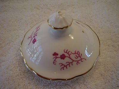 Coalport Cairo Gold Trim Pink Design on White Mini Coffee Pot Lid FREE SHIPPING.