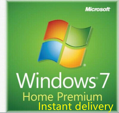 Microsoft Windows 7 Home Premium 32/64 Bit Product Key Instant Delivery+download